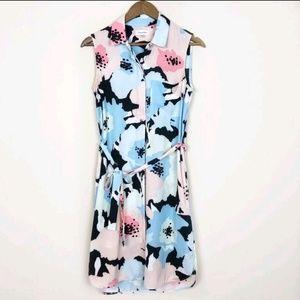 Calvin Klein Poppy Print Shirt Dress 139